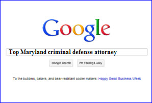 Google - Top Maryland criminal defense attorney